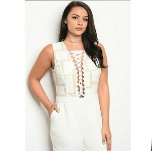 💋 Arrival IVORY NUDE romper PLUS SIZE💋
